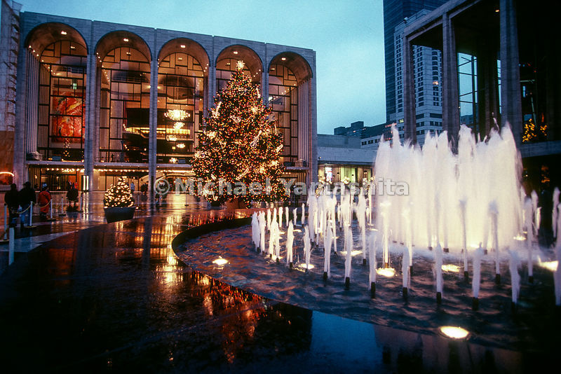 Christmas in New York.Lincoln Center.New York City, NY