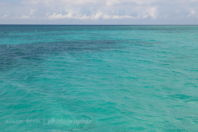 Calm and turquoise sea