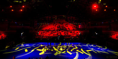 Spectacle during the Final Tournament - Final Four - SEHA - Gazprom league, Bronze Medal Match Meshkov Brest - PPD Zagreb, Be...