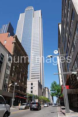 Dallas Stock Photos: Downtown street scene in Dallas (cars, skyscrapers)