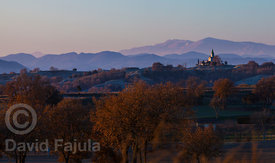 Santuari de Puig-agut (Puig-agut Sanctuary) with Puigllançada & Tossa d'Alp on the background