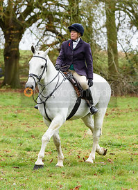 Monica Tebbutt-Wheat at the meet. The Cottesmore Hunt at Somerby
