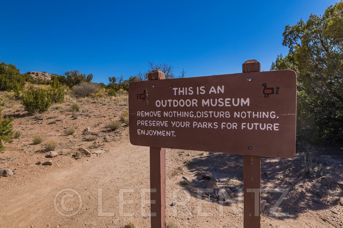 Outdoor Museum Sign at Tsankawi in Bandelier National Monument