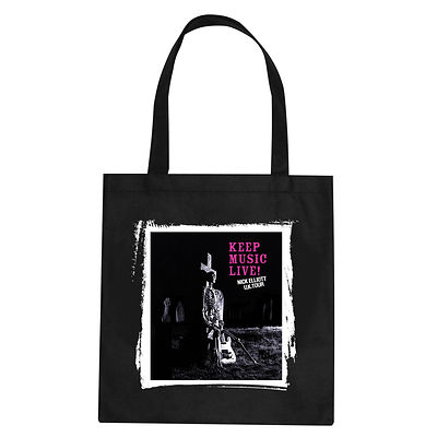 Keep Music Live Tote Bag