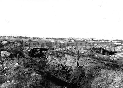WWI trench and abandoned guns