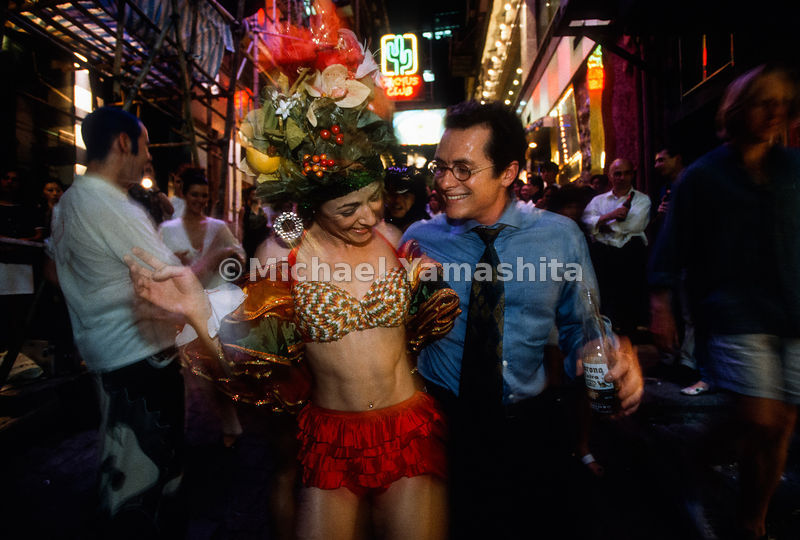 Lan Kwai Fong 5th Annual Mad Hatters Ball. Post '97 club benefit party and hat auction for AIDS.