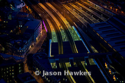 London Bridge Station at Night