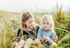 Danish children in the dunes near Klitmøller 2