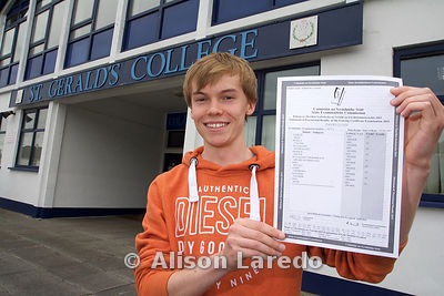 David Glynn, St Gerald's College Castlebar gets 9 A1s in his leaving cert.
