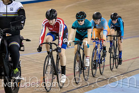 U17 Women Keirin 7-12 Final. Ontario Track Championships, March 4, 2018
