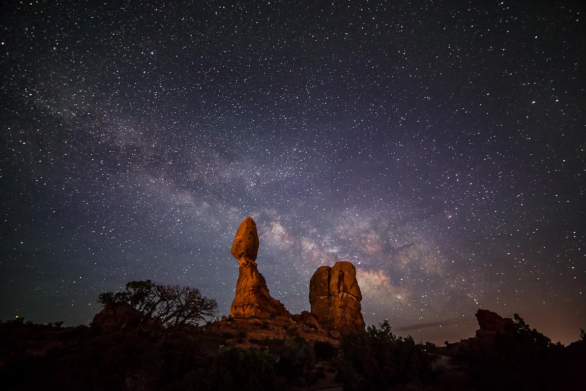Balanced Rock and the Milky Way #2