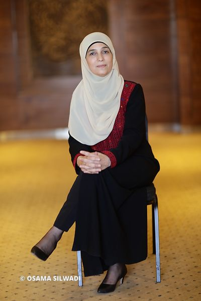 Palestinian teacher Hanan Al Hroub .. The winner of the Global Teacher Prize