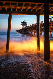 Under San Clemente Pier California Photo