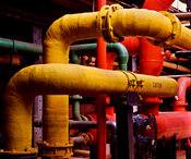 Coloured Industrial Pipework
