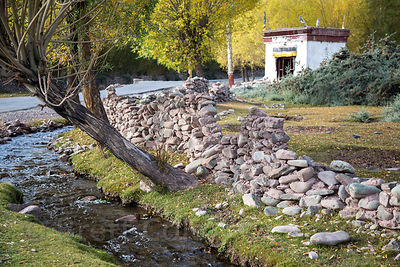 Stream in beautiful and idyllic Matho village, Ladakh, India