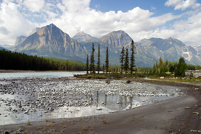 River scene in Jasper NP, Canadian Rockies