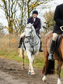 Monica Tebbutt-Wheat. The Cottesmore Hunt at Somerby