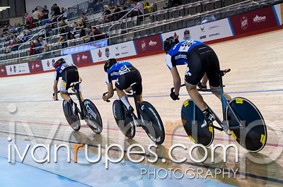 Junior Men's Team Sprint Final. 2015 Canadian Track Championships, October 9, 2015