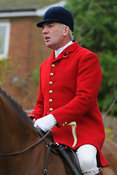 Andrew Osborne MFH - The Cottesmore Hunt meet at Oak House, Tilton On The Hill, Saturday 31st October 2015.