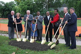 YMCA_granby_groundbreaking_mayor_and_city_manager_holding_shovels