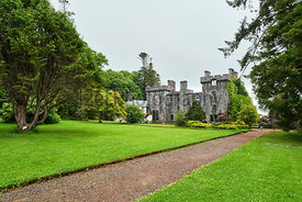 The remains of Armadale Castle, Clan Donalds,Sleat on the Isle of Skye, Scotland, UK.