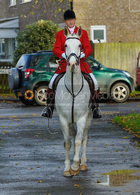 NIcholas Leeming MFH - The Cottesmore Hunt at Braunston, 12-11-13.