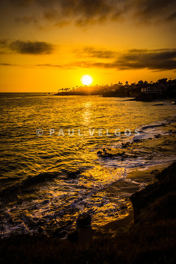Laguna Beach Sunset Picture at Shaw's Cove