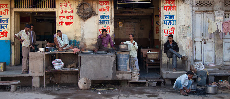 Typical shops in Bharatpur, Rajasthan, India