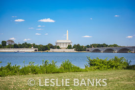 Washington DC Monuments Across Potomac River