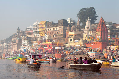 Ahilyabai and Prayag Ghats, Varanasi, India.