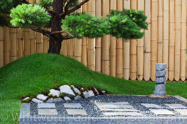 The 'Konpira-san' japanese garden at the RHS Hampton Court Flower Show. Designers: R-Two Ltd & Ryuji Izumi. © Rob Whitworth