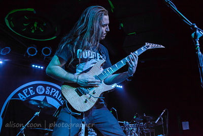 SACRAMENTO, CA - MAY 18: The Faceless, performing at the Ace of Spades, Sacramento CA, on May 18th 2013.