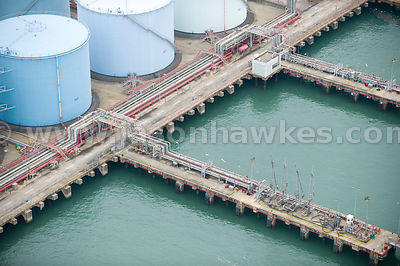 Aerial view of storage depot, Hong Kong