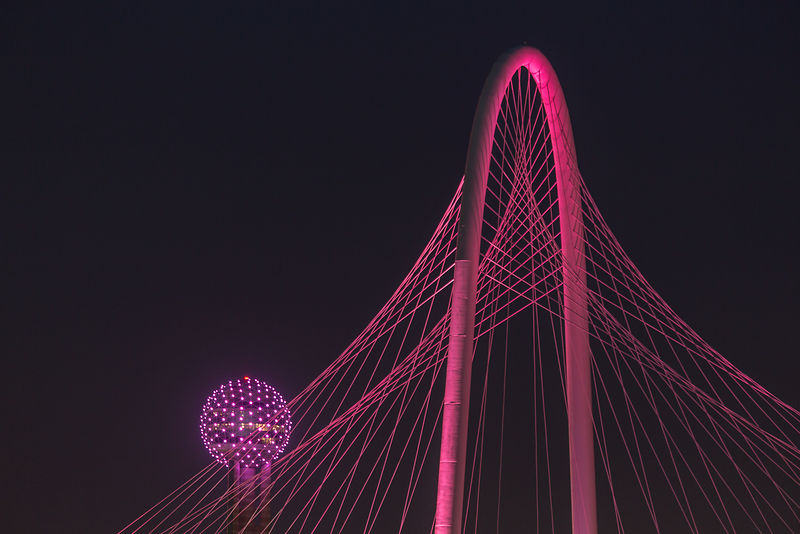Bridge and Tower in Pink #2
