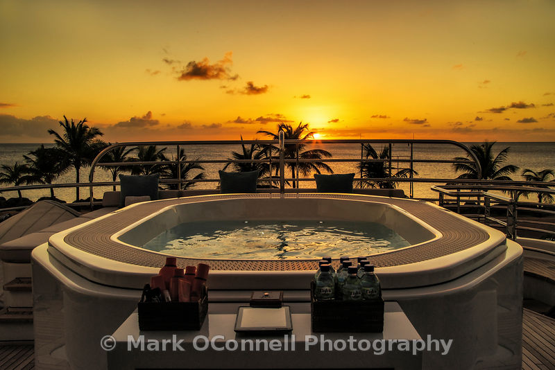Sunset from the Jacuzzi