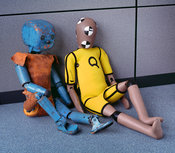 Old and modern crash test 'children'