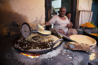 A sweets maker in Shyambazar, Kolkata, India.