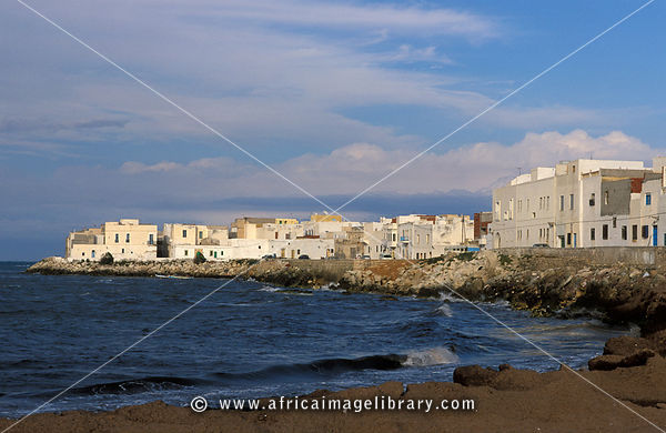 Waterfront at the Mediterranean sea, Hammamet, Tunisia