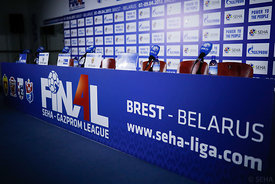 Preparation during the Final Tournament - Final Four - SEHA - Gazprom league, Press conference in Brest, Belarus, 06.04.2017,...