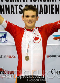 U17 Men's Individual Pursuit podium. 2015 Canadian Track Championships, OCtober 10, 2015