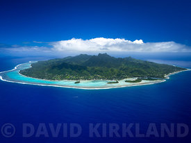 Aeriel photo of Rarotonga, Cook Islands