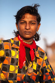 Young man in dapper dress in Pushkar, Rajasthan, India