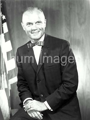 1962) --- Official portrait of astronaut John H. Glenn Jr., The first American to orbit the Earth in a Project Mercury spacec...