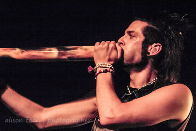 Chris Brooks, vocals and didgeridoo, Like A Storm, Sacramento