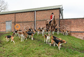 John Holliday and the Belvoir hounds At the meet at Merrivale Farm 5/1