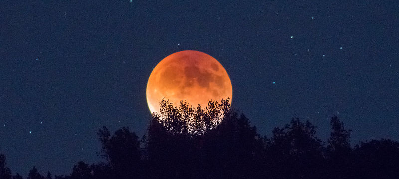 Emerging  Super Moon Eclipse
