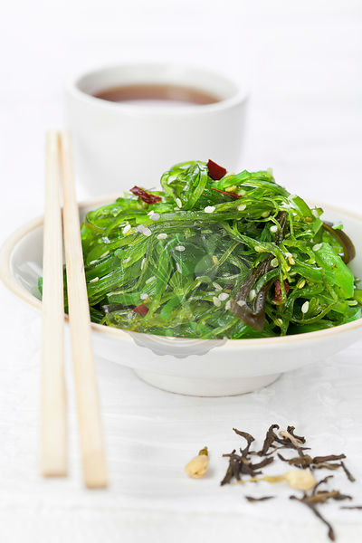 Seaweed japanese Salad with Sesame Seeds