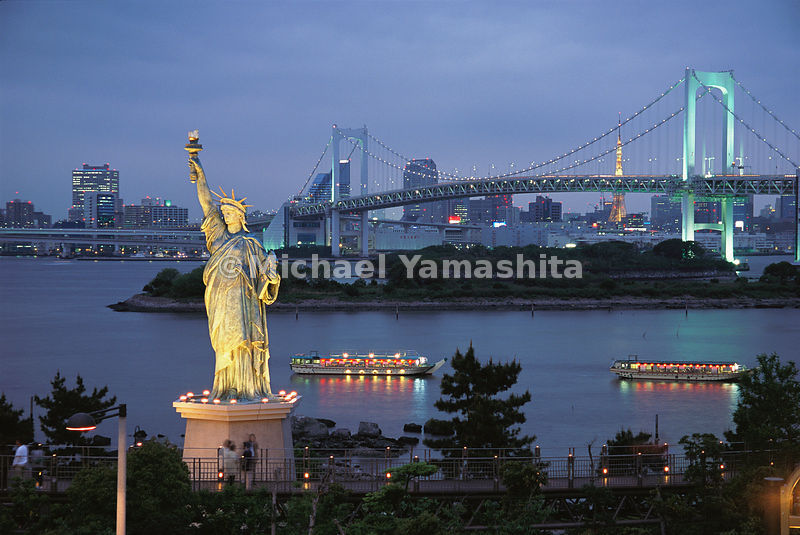Japan's infatuation with Americana rises to obvious extremes near Odaiba, where a Statue of Liberty replica stands tall befor...