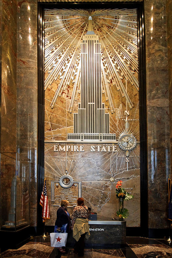 Le hall de l'Empire State, New York 2010