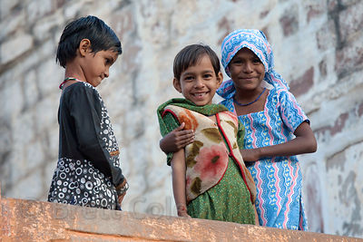 Muslim girls in Jodhpur, Rajasthan, India
